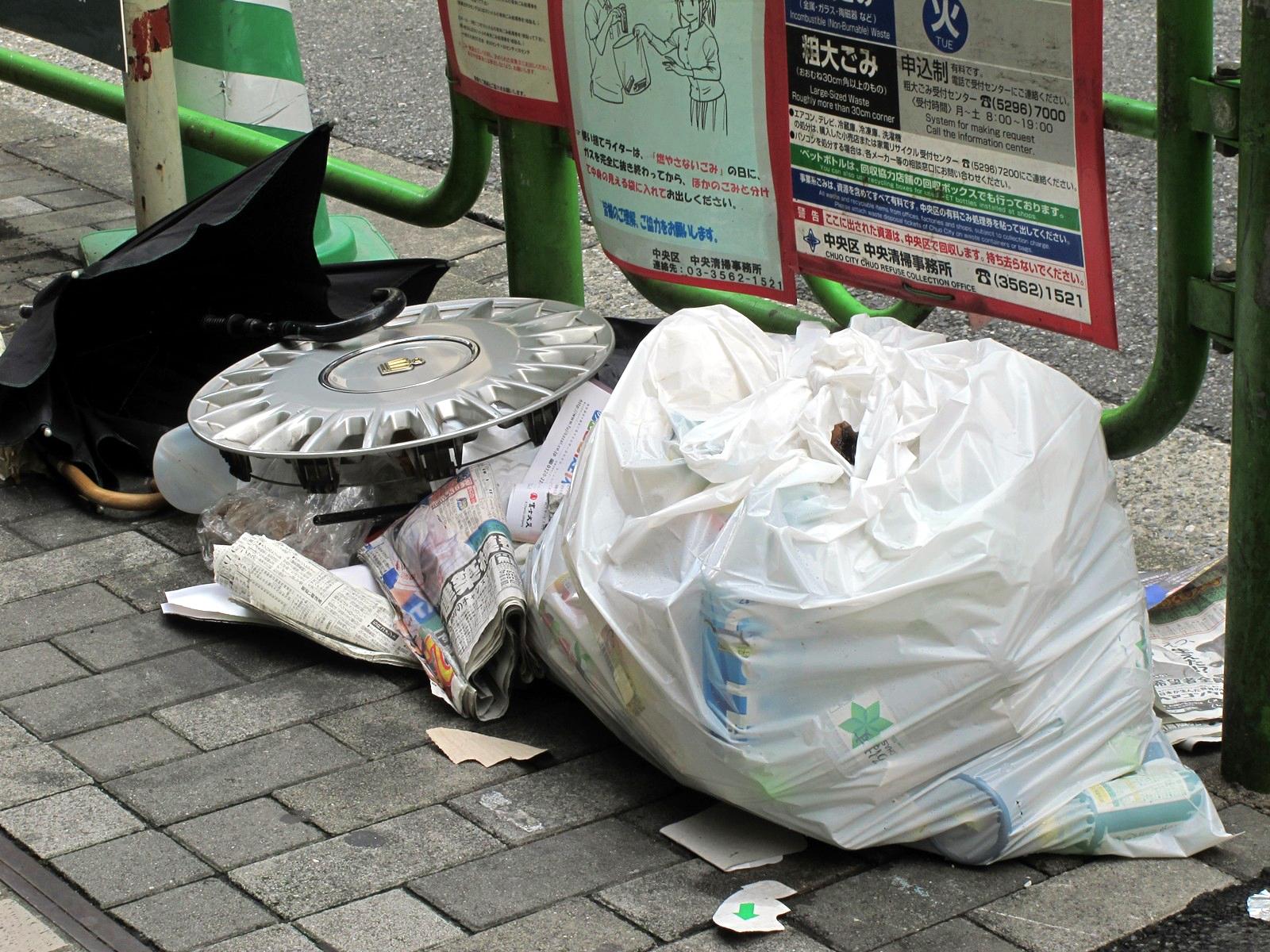 ゴミを増やすと、環境が悪くなります